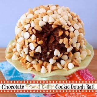 Chocolate Peanut Butter Cookie Dough Ball 6 title1 50 Delicious Dairy Free Recipes