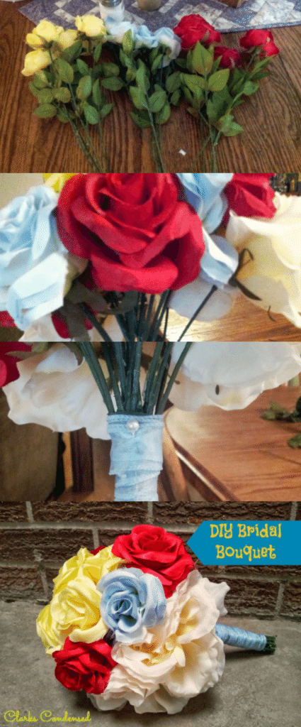 DIY Bridal Bouquet Tutorial -- easy to follow!