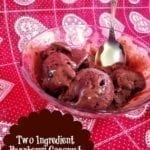 Two Ingredient Coconut Raspberry Ice Cream