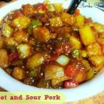 Sweet and Sour Pork with Vegetables and Pineapple