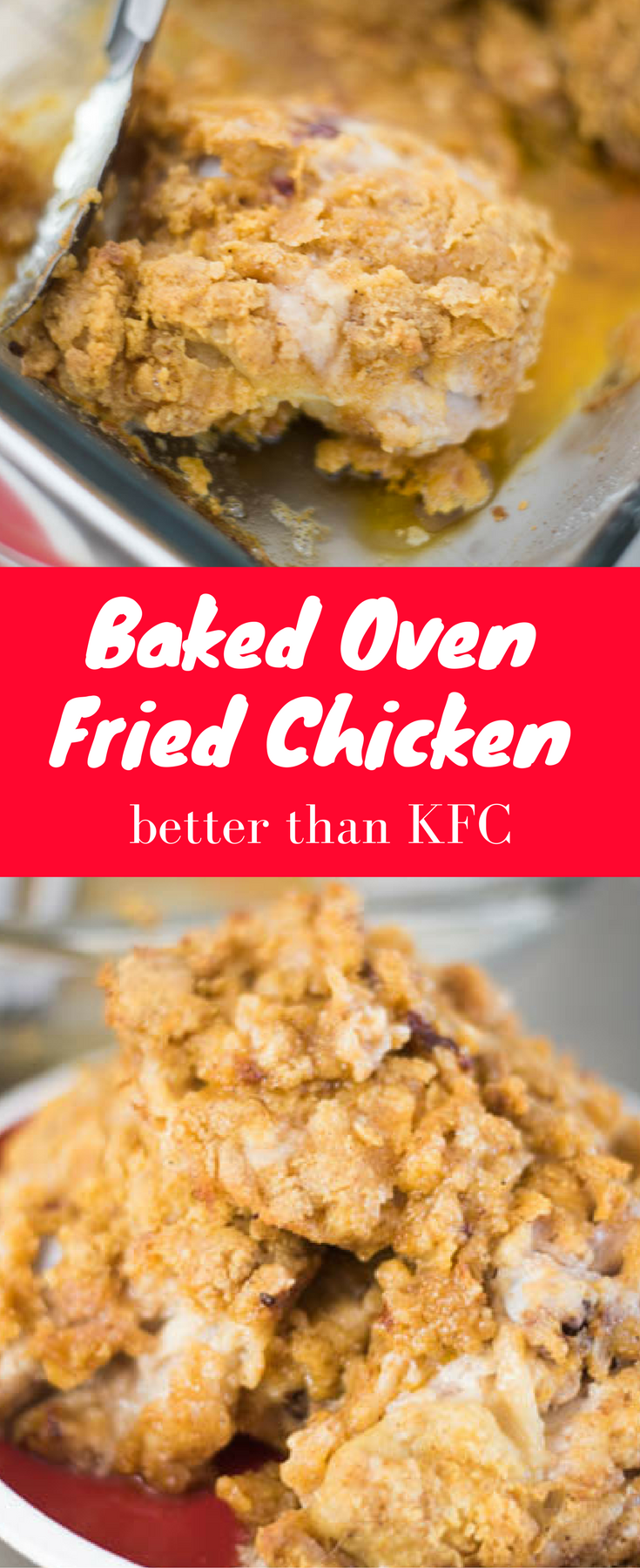 Oven Fried Chicken / Oven Baked Chicken / Crispy Oven Baked Chicken / Crispy Fried Chicken / Easy Fried Chicken / KFC Fried Chicken / KFC Chicken / Copycat KFC / Baked Chicken / Breaded Chicken / Chicken Breading