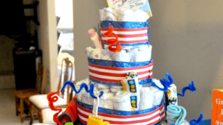 How to Make a Diaper Cake: An Easy Baby Shower Gift/Decoration