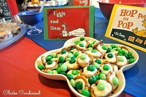 Green Egg and Ham Pretzel Cookies