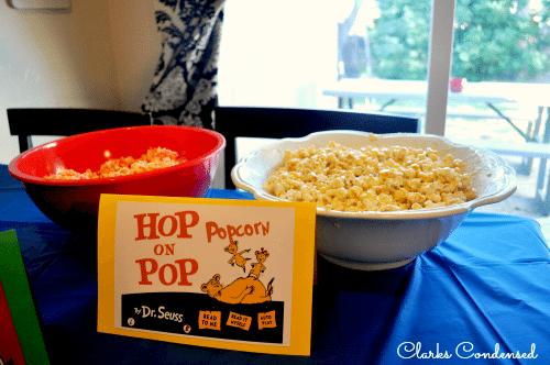 Dr. Seuss Popcorn Bar