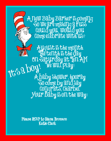 Invitation and Decoration Ideas for Dr. Seuss Party