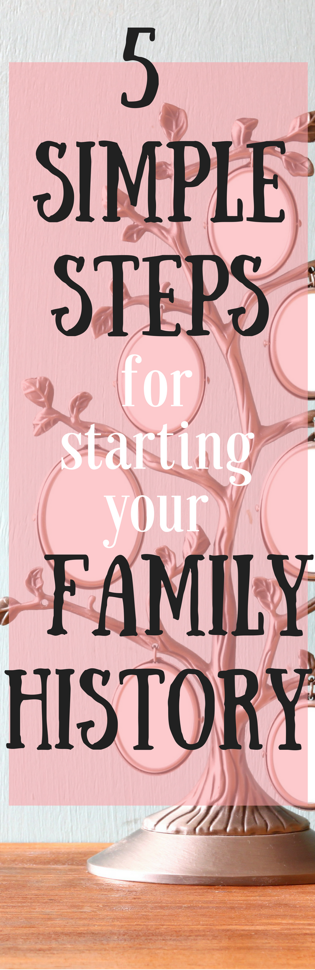 5 Simples steps for starting your family history - doing your Geneology research can really open up the doors of your ancestry. Here are a few tools for helping you get your family trees ready to go!