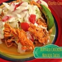 Buffalo Chicken Navajo Tacos