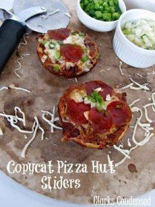 Copy Cat Pizza Hut Sliders Recipe