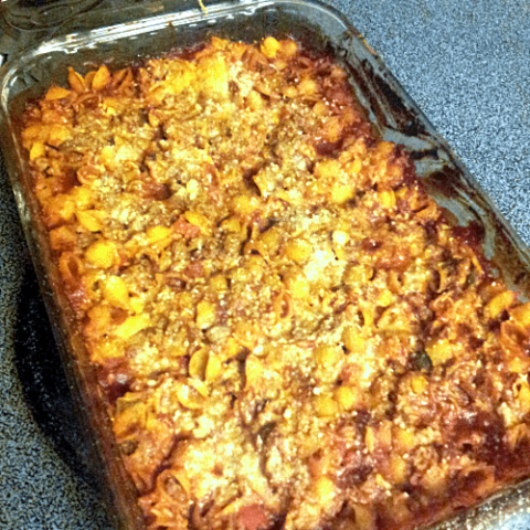 Gluten Free Sloppy Joe Casserole with Manwich