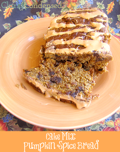 Easy Cake Mix Pumpkin Bread by Clarks Condensed