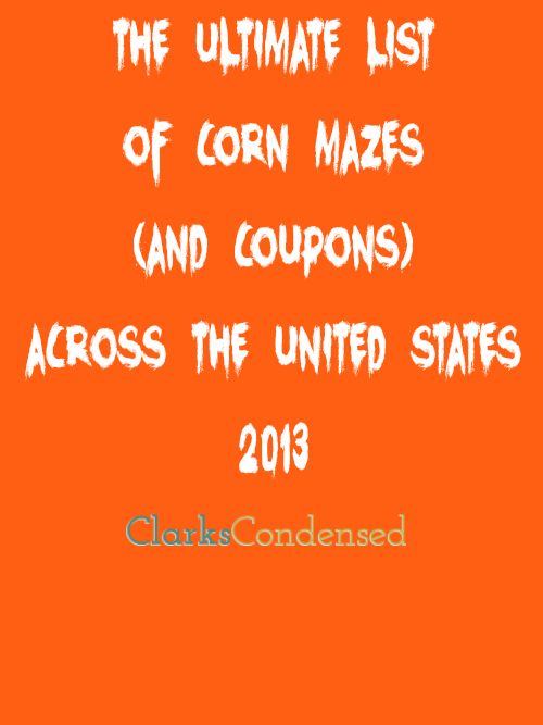 Corn Mazes Fall 2013