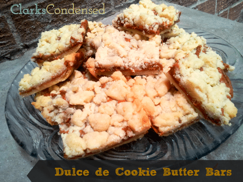 Dulce de Cookie Butter Bars