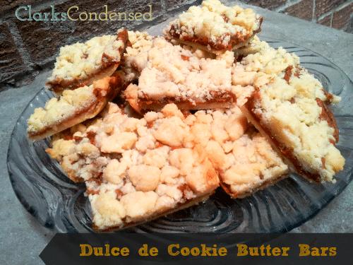 Dulce de Cookie Butter Bars