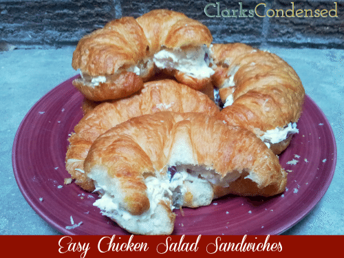 Simple Chicken Salad Sandwiches