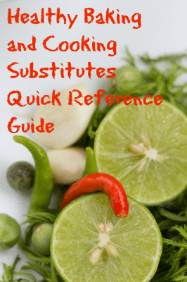 Healthy Baking and Cooking Substitutes