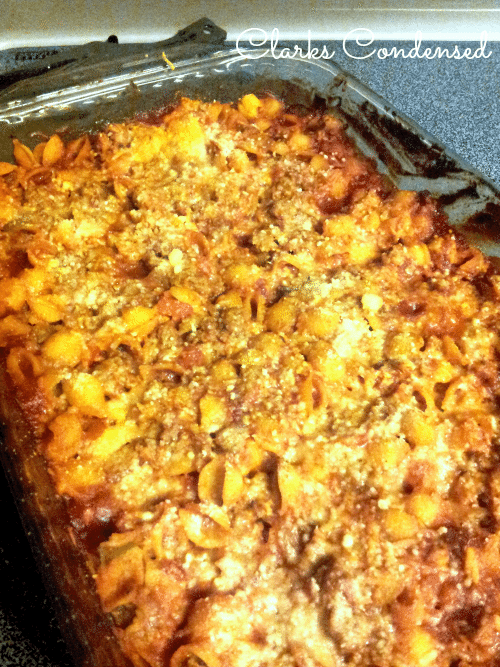 Sloppy Joe Pasta Casserole
