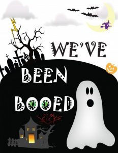 You've Been Booed: FREE Printable and Ideas