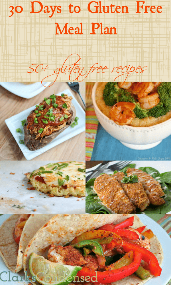 30 Day Gluten Free Meal Plan