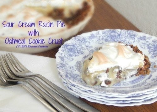 Sour Cream Raisin Pie with a Cookie Crust