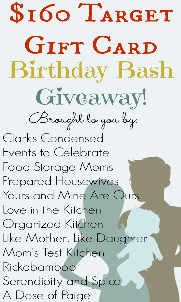 My Birthday Bash Giveaway {{$160 Target Gift Card}}