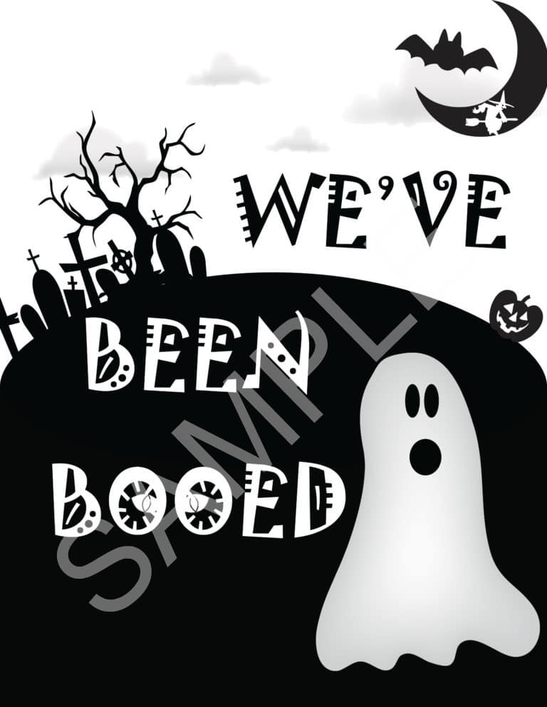 You've Been Boo'ed Printable