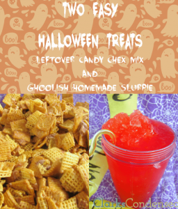 Fun Halloween Recipes: Candy Bar Chex Mix and Red Slushy Punch