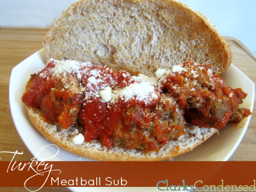 Herbed turkey meatball subs -- healthier than a traditional sub, this herbed meatball sub is full of flavor.