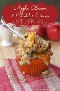 Apple Bacon and Cheddar Cheese Gluten Free  15 Unique Stuffing Recipes