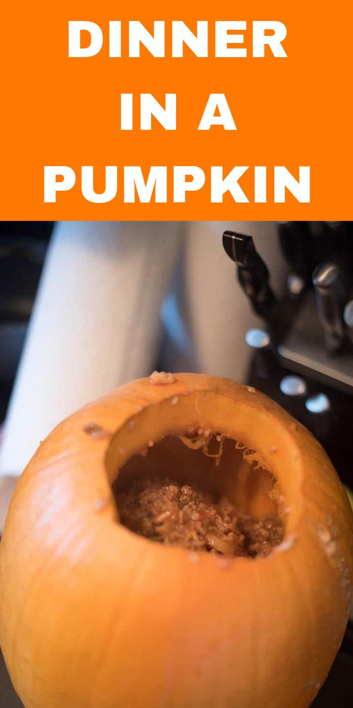 Dinner in a Pumpkin / Dinner in a Pumpkin Recipe / Halloween Recipe / Pumpkin Dinner Recipes