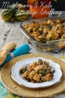 Mushroom and Kale Sausage Stuffing 15 Unique Stuffing Recipes