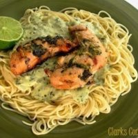 Creamy Lime-Basil Pasta with Grilled Chicken