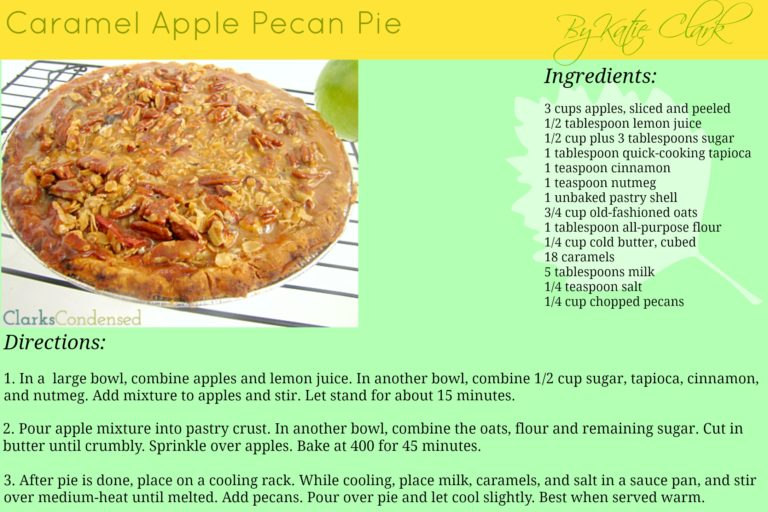 Caramel Apple Pecan Pie