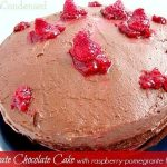 Chocolate Raspberry Pomegranate Cake