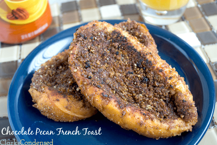 Chocolate Pecan French Toast by Clarks Condensed