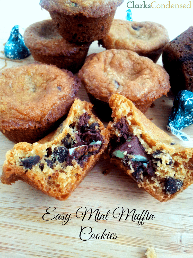 Easy Mint Muffing Cookies