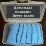 Homemade Reusable Dryer Sheets