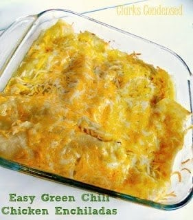 Easy Green Chili Enchiladas