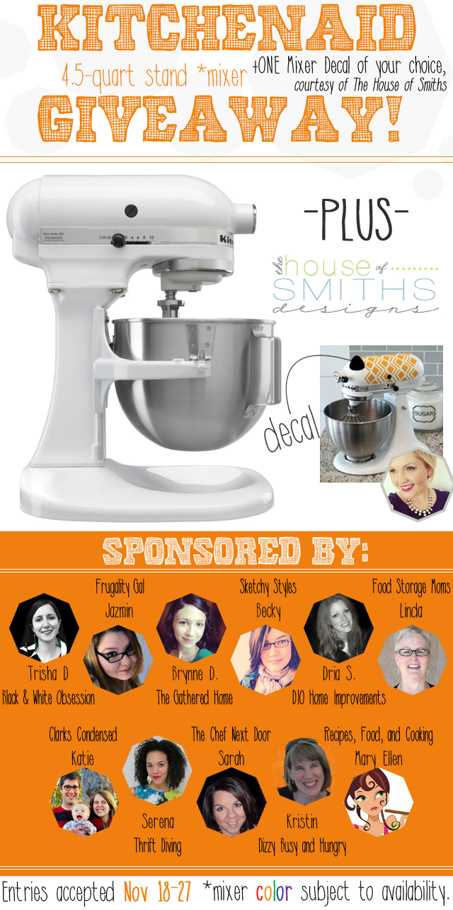 Kitchen Aid Giveaway (November 18-27th)