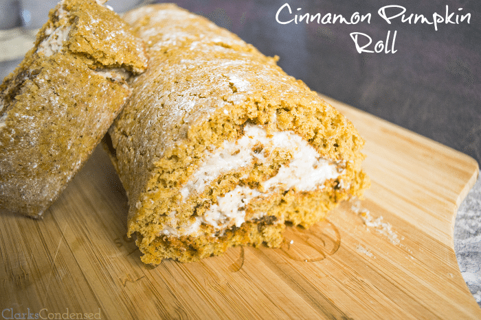 Cinnamon Pumpkin Roll with Brown Sugar Frosting ~ Clarks Condensed