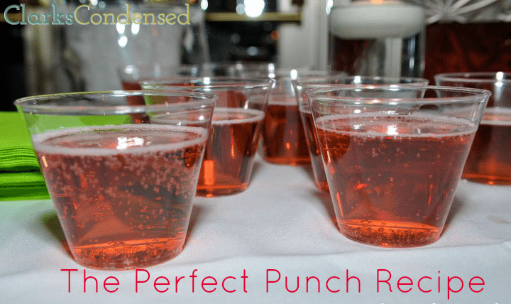 The Best Punch Recipe Ever by Clarks Condensed (only two ingredients!)
