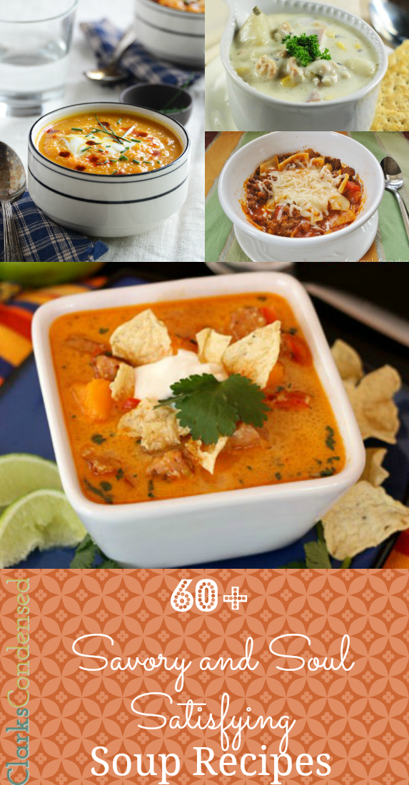 60+ Savory and Soul Satisfying Soup Recipes by Clarks Condensed
