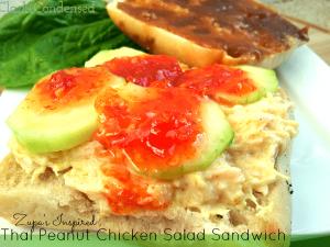 Zupas Inspired Thai Peanut Chicken Salad Sandwich
