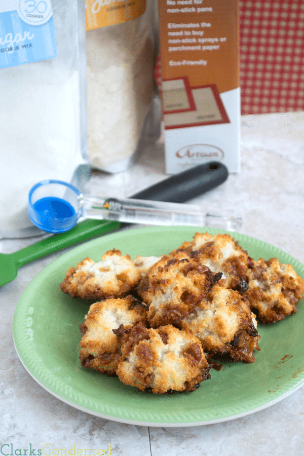 Easy coconut and caramel macaroons