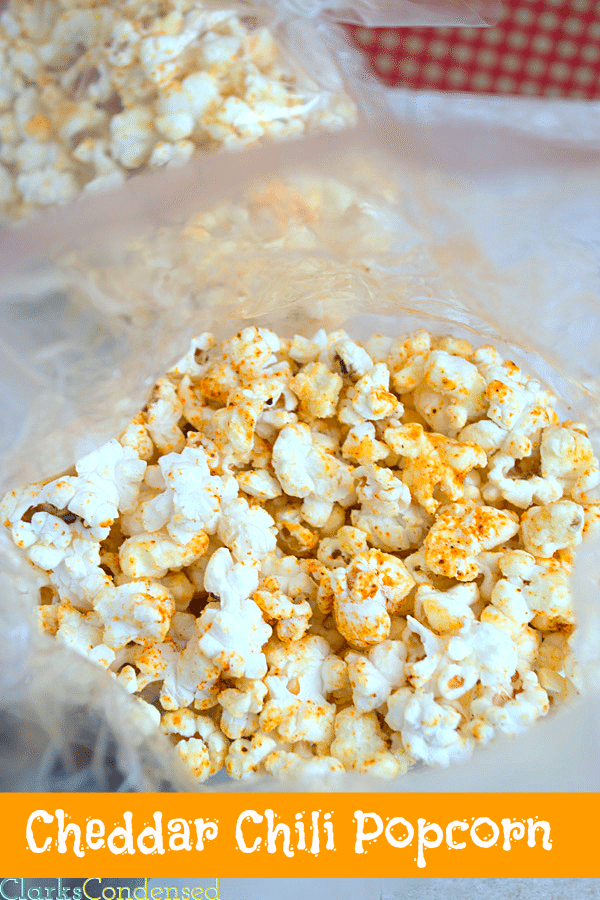 Chili Cheddar Popcorn by Clarks Condensed