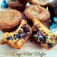 Easy Mint Muffin Cookies