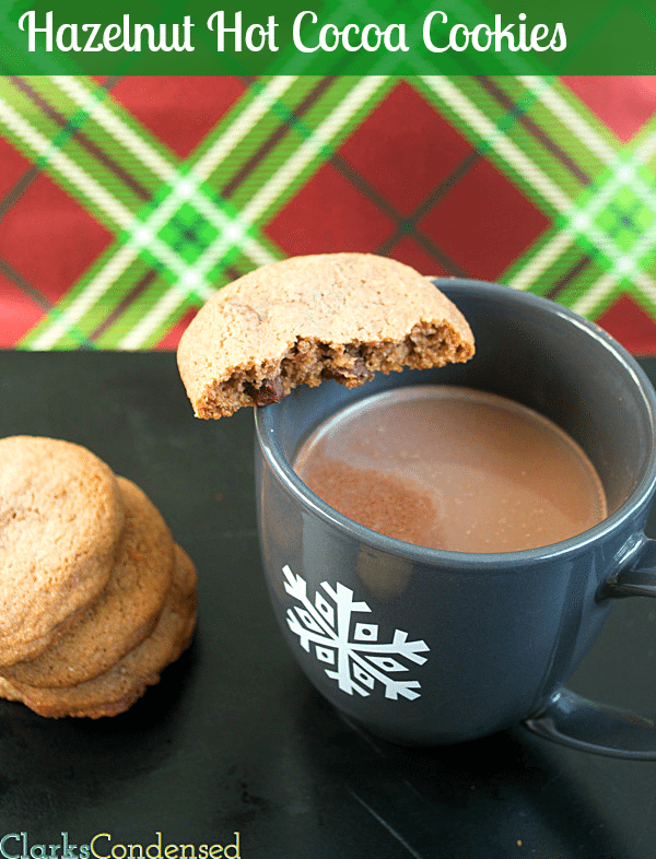 Hazelnut Hot Cocoa Cookies