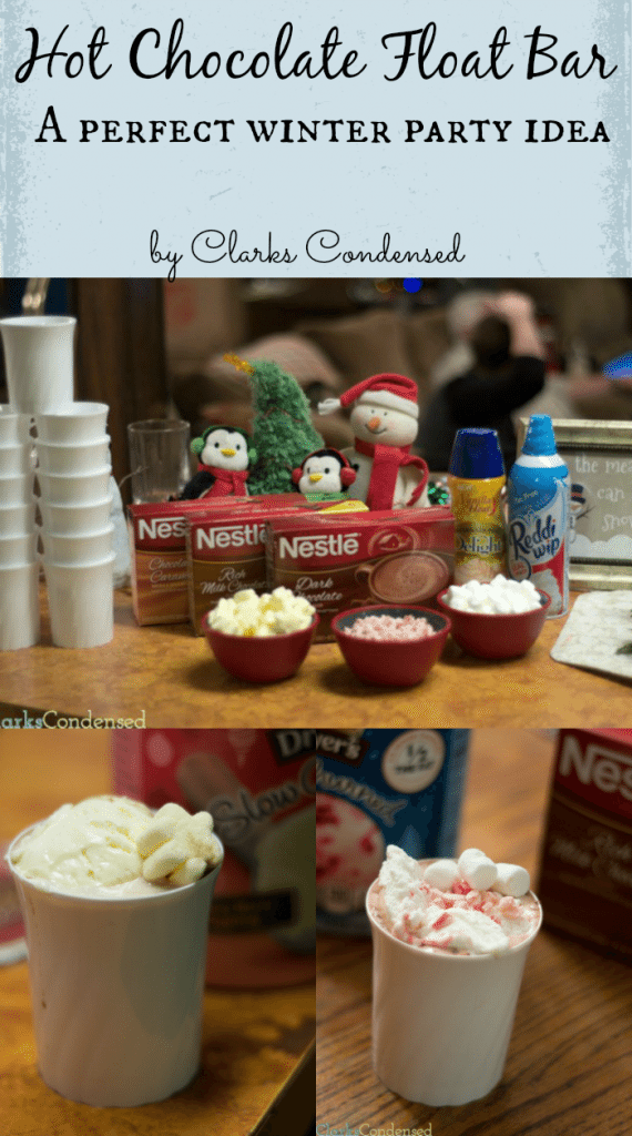 Hot Chocolate Float Bar Ideas -- a delicious combination of hot chocolate and ice cream, perfect for the holidays #shop #HolidayReady #cbias