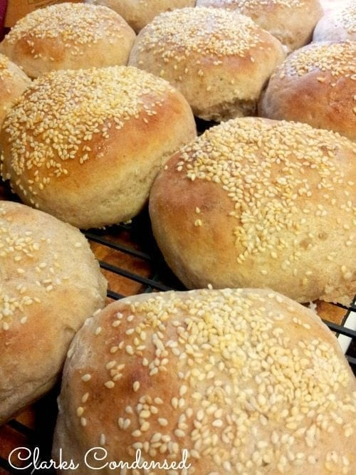 Easy and delicious homemade hamburger buns by Clarks Condensed