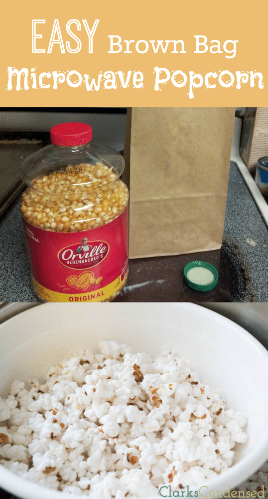Easy Brown Bag Popcorn