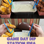 Game Day Dip Station with Avocado Ranch Dip {{Dairy Free}}